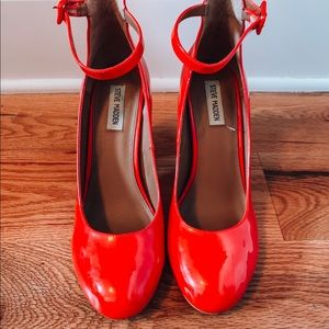 Red Steve Madden Mary Jane Style Heels